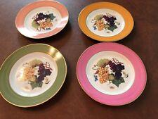 Set of 4 Vintage Porcelain Email De Limoges Appetizer/dessert Plates - Marino