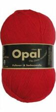 """Opal """"Uni"""" Solid Sock Yarn - Red (5180) + pattern"""