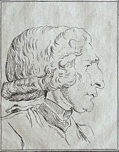 Jean Baptiste Louis Georges Seroux d'Agincourt Rare autoportrait XVIII sur vergé