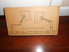 "NEW ""ATDEC SPACEDEC"" ARTICULATING ARM WALL MOUNT FLAT SCREEN MONITOR ARM ~ BLACK"