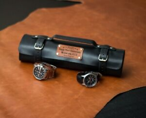 Watch roll for 6-18 watches, Leather watch roll, Travel watch roll, watch case