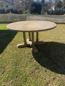 Vintage Williams Sonoma Whitewashed Oak Dining Table