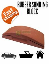 "RUBBER SANDING BLOCK 9"" HAND AUTOMOTIVE 70MM SOFT GRIP HOUSE DIY CAR WET RUBBING"