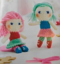 CROCHET PATTERN Best Friends Girl Pair of Toy Childrens Doll 15cm Tall PATTERN