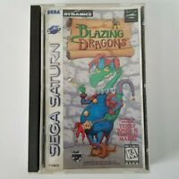 Sega Saturn Blazing Dragons - Game Complete with case and manual/cover art.