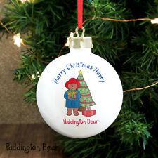 Paddington Bear Personalised Christmas Tree Bauble - Boys or Girls Add Message