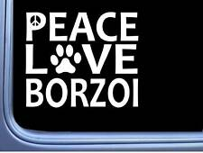 "Borzoi Peace Love L647 Dog Sticker 6"" decal"