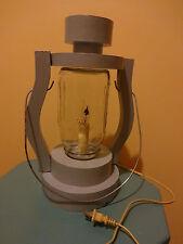 Hand made wood Electric Railroad Lamp, W/Mason Jar lantern