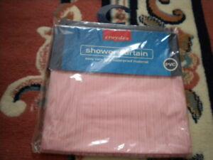 Croydex Pink Vinyl Shower Curtain  - New