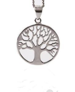 Kettenanhänger Lebensbaum, 925 Sterlingsilber Mythos Baum Schmuck Zirkonia
