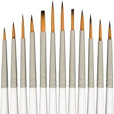Detail Paint Brush Set 12Pcs Xpassion Fine Paintbrushes for Miniatures Art Pa...