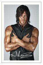 NORMAN REEDUS THE WALKING DEAD SEASON 7 SIGNED PHOTO PRINT DARYL DIXON