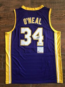 Shaquille O'Neal Autographed Purple Lakers Jersey Signed PSA/DNA ITP COA
