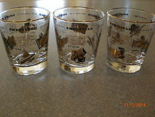 Sheffield History of Manufacture vintage glasses dated 1964 lot of 3 near mint