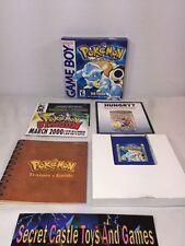 Pokemon: Blue Version Nintendo Game Boy Color, 2001 w/ Manual & Box SAVES CIB