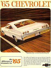 "5x7""photo REPRINT GM CHEVROLET ADVERTISING 1965 IMPALA ""SS"" SPORT COUPE"