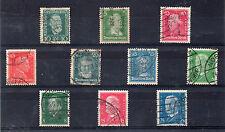 Alemania Imperio Personajes valores del año 1924-28 (CC-555)
