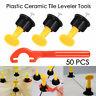 50set/Bag Plastic Ceramic Leveler Tools T Leveling System Sets For Tiles UK