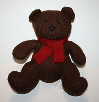 MACYS Martha Stewart TEDDY BEAR Cable Knit Brown Plush Soft Toy Stuffed Scarf