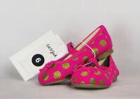 Cat & Jack Girls Shoes Size 6 Pink Gold Ballet Flats Bows