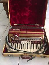 Frontalini 120 BASS PIANO ACCORDION Made in Italy Original Case c1958
