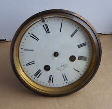 Clock front & movement for repair, William S. Burton, London. Japy Freres.
