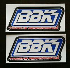 "2 BBK PERFORMANCE RACING STICKERS DECALS 2X4.5"" drags offroad hotrods LS mustang"