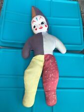 Vintage Celluoid Cute Child Clown Face 22� Doll As Is From Estate Sale