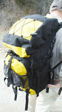 The NORTHFACE Yellow Black Nylon BACKPACK