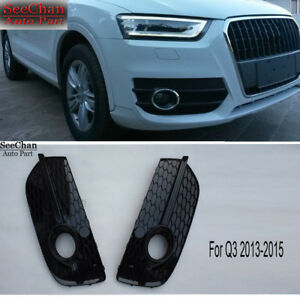 Front Lower Fog Light Lamp Grille Grill Cover Black Fit For AUDI Q3 SQ3 2013-15