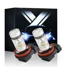 2PC H11 H16 H8 LED Fog Driving Light 6000K White Bulbs DRL 60W 6000LM High Power