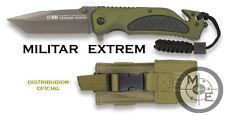 Navaja Rui aluminio color verde. hoja 9 3 supervivencia Knife militar