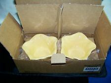 Southern Living @ Home Petals of Light (Yellow) Candle Holder Set of 2 40477 Nib