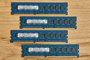 4 Hynix 2GB (1x2GB) 2RX8 PC3-10600E Server Memory Modules