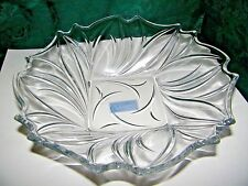 "Celebrations by Mikasa Wind Song 13"" Centerpiece Crystal Bowl NIB"
