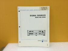 Hp / Agilent 08614-90002 8614B + 8616B Signal Sources Operating + Service Manual