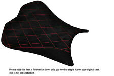 SUEDE DIAMOND STITCH RED CUSTOM FITS KAWASAKI ZX10R 1000 08-10 FRONT SEAT COVER