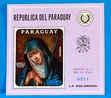 PARAGUAY TIMBRE BLOC FEUILLET  LA VIERGE TRISTE NEUF ** MNH  88M679