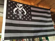 GIANT 5' TACTICAL FETT FLAG BANNER BOBA FETT MANDALORIAN BOUNTY HUNTER STAR WARS