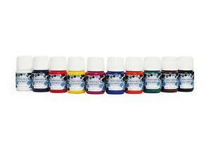 Silk Painting Iron Fixed Silk Paints 30ml - PACK OF 10  bargain- high quality