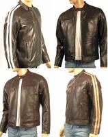 RETRO stil Nappa Jacke Echtes Leder schwarz und braun