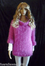 Handgestrickt pull 78% mohair mohair exclusivement M ~ L Hand knitted sweater