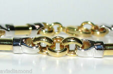 13.8 GRAMS BAR LINK BRACELET 14KT 2 TONED RARE+