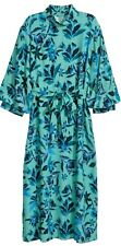 H&M Trend Turquoise Floral Print Midi Dress 14 Bnwt