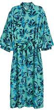 H&M Trend Turquoise Floral Print Midi Dress 14 Bnwt