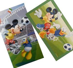 Disney Mickey Mouse Donald Football Bath Towel Beach Towel 29 7/8x59 13/16in New
