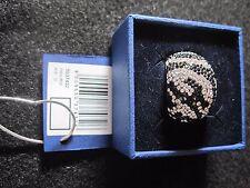 Swarovski Swan Signed Silver Tone Zebra Ring Size 60 Brand New in Box Mint 602