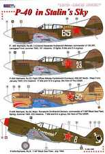AML Models Decals 1/72 CURTISS P-40 IN STALIN'S SKY Russian P-40s w/PE Set