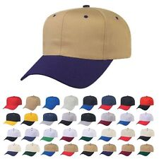 1 Dozen Blank Two Tone Cotton Twill Baseball Hats Caps Snapback Wholesale Lot