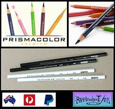 Prismacolor Premier Colored Pencils - Black x 2 and White x 2